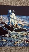 CPSM LA CONQUETE DE LA LUNE PAR APOLLO XI JUILLET 1969 ALDRIN INSTALLE LE SISMOGRAPHE ULTRA SENSIBLE PHOTO NASA 6 - Astronomia