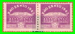 ESPAÑA  PAREJA DE SELLOS AÑO SANTO  1942 **  NUEVO ** - 1931-Hoy: 2ª República - ... Juan Carlos I