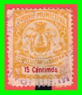 TIMBRE MUNICIPAL.SANLUCAR DE BARRAMEDA.15 CÉNTIMOS.USADO. - Impots De Guerre