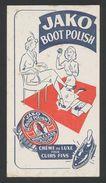 Buvard - JAKO Boot Polish - Buvards, Protège-cahiers Illustrés