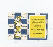 PETIT CALENDRIER PUBLICITAIRE CUSENIER COGNACS 1959 - Calendriers