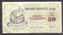 Viareggio - Buono D'acquisto 50 Lire - Scadenza 31-10-75 - Senza Diciture Sull Validità - W - [10] Assegni E Miniassegni