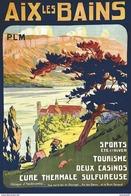 PLM Aix-les-Bains Sports-tourisme-casinos - Postcard Poster Reproduction - Publicité