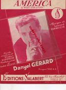 PARTITION MUSIQUE-AMERICA WEST SIDSE STORY-DANYEL GERARD-LEONARD BERNSTEIN-STEPHEN SONDHEIM-EDITIONS SALABERT PARIS 1957 - Scores & Partitions