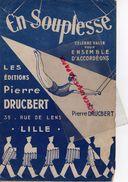 CIRQUE- PARTITION MUSIQUE-EN SOUPLESSE- TRAPEZE-TRAPEZISTE-PIERRE DRUCBERT-59- LILLE - Scores & Partitions