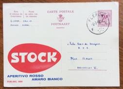 ENOLOGIA  STOCK APERITIVO ROSSO AMARO BIANCO INTERO PUBBLICITARIAO BELGIO BELGIQUE VIAGGIATO 1962 - Alimentazione