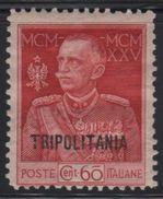 1925-26 Tripolitania Giubileo Del Re 60 C. MLH - Tripolitania