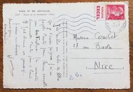 ALIMENTARI MARGARINA EXCEL  APPENDICE PUBBLICITARIA SU FRANCOBOLLO FRANCESE SU CARTOLINA DEL 1957 - Alimentazione