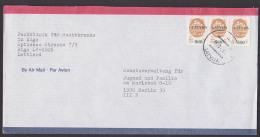 Lietuva Litauen Riga Aptierter Stempel Letter Brief Aufdruckmarken Auf Russische 2-Kopekenmarke - Litauen