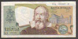 2000 Lire Galileo - Circolata - Proposta Al Facciale - W - [ 2] 1946-… : Repubblica