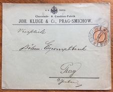 CIOCCOLATA   CANDITI   CHOCOLADE & CANDITEN J.KLUGE & C. PRAG-SMICHOW BUSTA POSTALE 6 K. DEL 1903 - Alimentazione