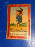 """Fil """"AU  CONSCRIT"""", Boite Carton Vide De Fil De Lin D.A.é.  En Capsule. 80 à 150 Blanc. - Boîtes"""