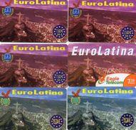 CARTES PREPAYEES  EAGLE TELECOM  *75u 7,62e 50F *7,50e *15,24e Euro Latina  (lot De 6) 4566 - France