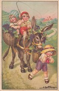 Bertiglia Children With Donkey - Bertiglia, A.