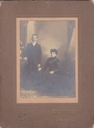 HOMBRE Y MUJER/MAN AND WOMAN /HOMME ET FEMME PAREJA/COUPLE CIRCA 1900S 17X22CM APROX - BLEUP - Anonymous Persons