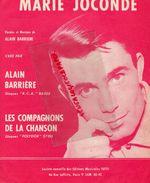 PARTITION MUSIQUE-MARIE JOCONDE-ALAIN BARRIERE-COMPAGNONS DE LA CHANSON-PARIS 1963 - Scores & Partitions