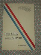 Rare Programme ~1943 Les Compagnons De France D'Alès Soirée Théatrale - Scouts De France - Pétain Tous Unis Pour Servir - Programmi