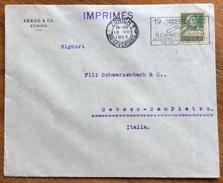 ALIMENTAZIONE GRANO TARGHETTA PUBBLICITARIA CON FALCE E GRANO SU BUSTA SVIZZERA DA ZURIGO A SEVESO 1925 - Alimentazione