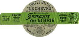 """France - Brie - Petit Brie """"Le Chevru"""" - Fromagère De La Brie - 77169 - St Siméon Près De Coulommiers - Cheese"""