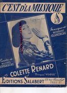 PARTITION MUSIQUE-C' EST DE LA MUSIQUE-COLETTE RENARD-MICHEL RIVGAUCHE-NORBERT GLANZBERG-EDITIONS SALABERT PARIS 1959 - Scores & Partitions