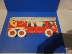 RARE Camion De Pompiers : Découpage, Coloriage, Jouet ANCIEN De Marque WILLEB. Réf. 1235 B. Années 30 - Giocattoli Antichi