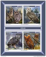 MOZAMBIQUE 2017 ** Owls Eulen Hiboux M/S - OFFICIAL ISSUE - DH1713 - Eulenvögel