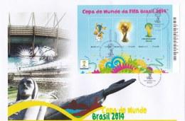 Brazil 2014 FDC FIFA World Cup Football Souvenir Sheet (LAR6-17) - Fußball-Weltmeisterschaft