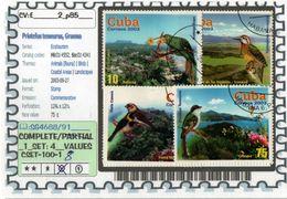 AMERICA:CUBA:#TOURISM#BIRDS#COMMEMORATIVE# SERIE(S) (CSET 100S-1 (08) - Cuba
