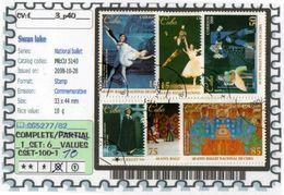AMERICA:CUBA:#BALLET#COMMEMORATIVE# SERIE(S) (CSET 100S-1 (10) - Cuba
