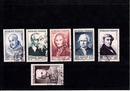 FRANCE    1953 CELEBRITES  945 A 950   OBLITERES CHOISIS - France