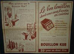 BOUILLON KUB.Publicité En 4 Pages,avec Recettes. - Reclame