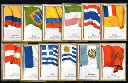 19 Cromos De Banderas Con Publicidad Chocolat Kwatta Por Detras. - Zonder Classificatie