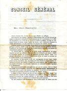 26.DROME.NYONS.CONSEIL GENERAL.PROFESSION DE FOI DE H.LONG.1870. - Other