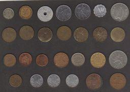 Lotto 25 Monete Con Ripetizioni - Consernvazione Scadente/pessima - Monete & Banconote