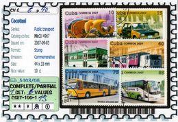 AMERICA:CUBA:#PUBLIC TRANSPORT#COMMEMORATIVE# SERIE(S) (CSET 100S-1 (13) - Cuba