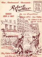 D75   PARIS  1er ........... Restaurant Brasserie Robert Vattier 14 Rue Coquillère - Arrondissement: 01