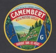 Etiquette De Fromage Camembert  - Fabriqué Dans Les Vosges  (88 )  - Importé Par Ets Michaud D'Indochine - Fromage