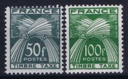 France: Yv TAX  88 + 89 Postfrisch/neuf Sans Charniere /MNH/** 1946 - Segnatasse