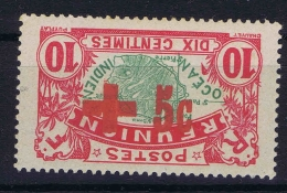 Reunion Yv 81 B   Surcharge Renversee  MH/* Falz/ Charniere - Nuovi