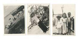 Indochine 3 Photos Années 50's 2 Scans Bien 115 X 85 Mm Papier épais Colonies Françaises - Photos