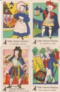 4 CPA VIEILLES CHANSONS FRANCAISES ILLUSTREES - Contes, Fables & Légendes