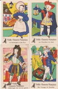 4 CPA VIEILLES CHANSONS FRANCAISES ILLUSTREES - Fairy Tales, Popular Stories & Legends