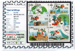 AMERICA:CUBA:#EXPO 2000#COMMEMORATIVE# SERIE(S) (CSET 100S-1 (21) - 2000 – Hanovre (Allemagne)