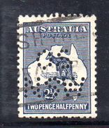 T1042 - NEW SOUTH WALES  AUSTRALIA , Kangoroos  Servizio Perforato OS NSW  : Il 2 1/2 Pence  Fil  Crown On A Usato - 1850-1906 New South Wales