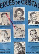 PARTITION MUSIQUE-PERLES DE CRISTAL-YVETTE HORNER-VERCHUREN-EMILE PRUD'HOMME-SIOZADE-EMILE CARRARA- BALS DE FRANCE PARIS - Scores & Partitions