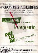 59-CAMBRAI-RARE PARTITION MUSIQUE-TAMBOURIN RAMEAU-PRELUDE HAENDEL-EDITIONS E. BASILE 61 AVENUE VALENCIENNES- ACCORDEON - Scores & Partitions