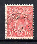 T1136 - NEW SOUTH WALES  AUSTRALIA , Head  Servizio Perforato OS NSW  : Il 1 1/2  Pence  Fil  Crown On A Usato - 1850-1906 New South Wales