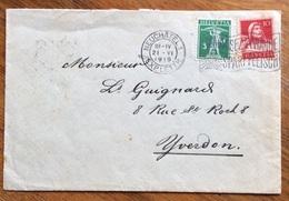 FRUTTA  FRAGOLE  HERO FRUITS CONFITS LENZBURG  CHIUDILETTERA ERINNOFILO SU BUSTA  DA NEUCHATEL A VERDON 1919 - Alimentazione