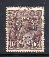 T1137 - NEW SOUTH WALES  AUSTRALIA , Head  Servizio Perforato OS NSW  : Il 1 1/2  Pence  Fil  Crown On A Usato - 1850-1906 New South Wales