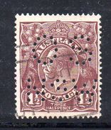 T1159 - NEW SOUTH WALES  AUSTRALIA , Head  Servizio Perforato OS NSW  : Il 1 1/2  Pence  Fil  Crown On A Usato - 1850-1906 New South Wales
